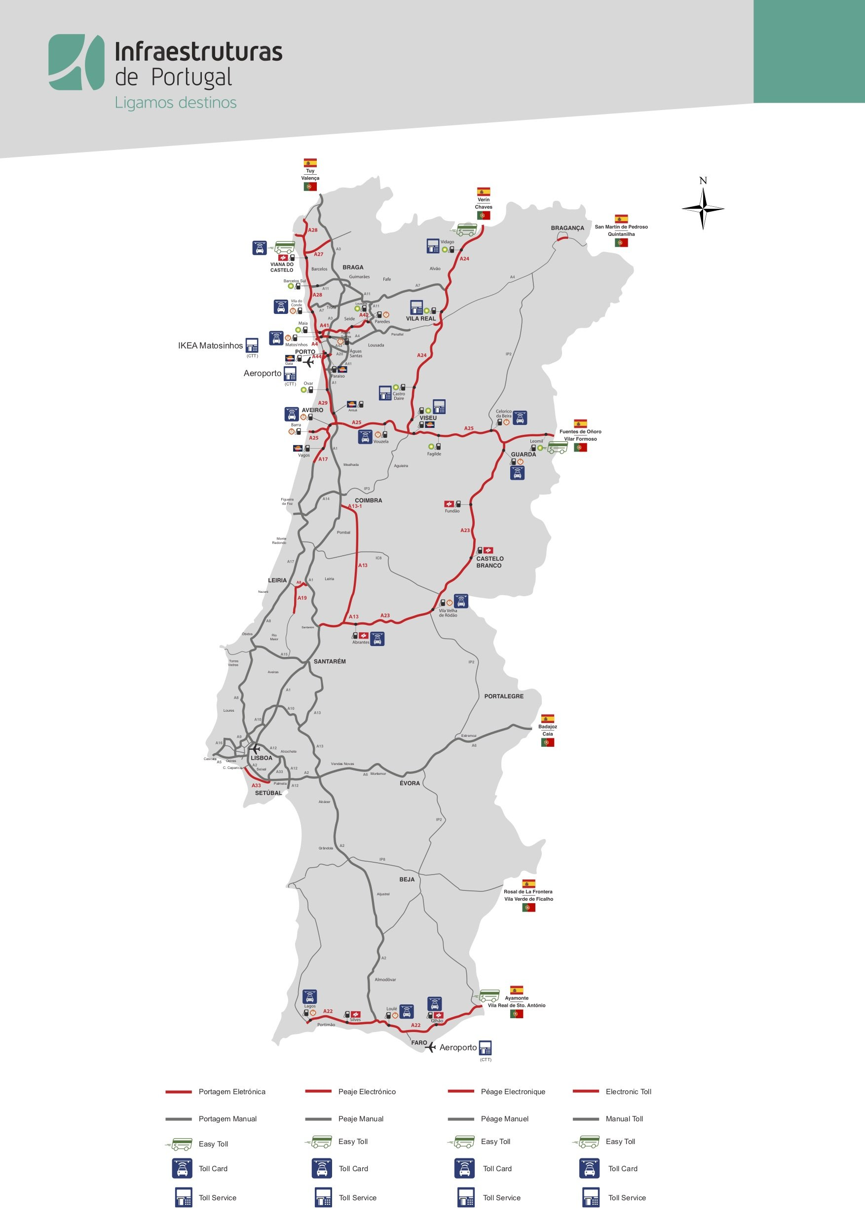 Plan Routes Portugal